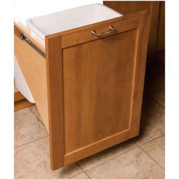 pull out built in trash cans cabinet slide out under sink kitchen house ideas pinterest. Black Bedroom Furniture Sets. Home Design Ideas