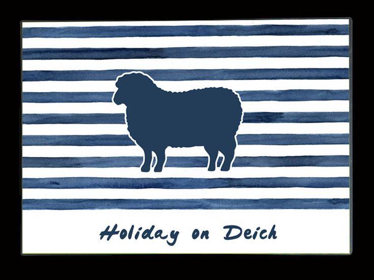 """Platzsets - Tischset / Platzset """"Holiday on Deich"""" - ein Designerstück von thingstoprint bei DaWanda"""