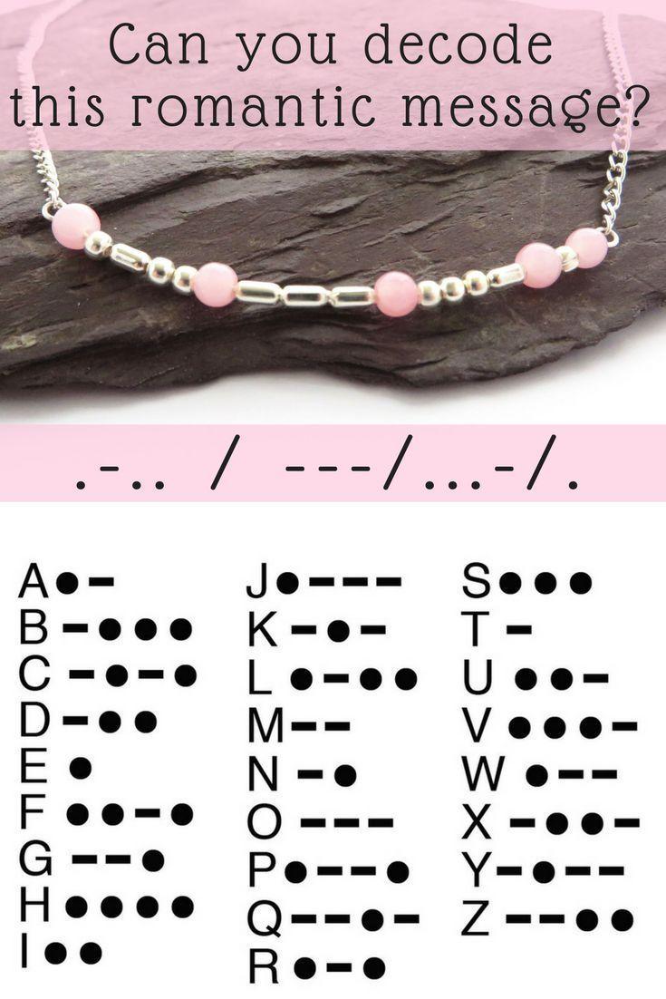 25 + › Wie aufregend – versteckte romantische Botschaften in Schmuck! Verwenden Sie den Morsecode a – Geschenke