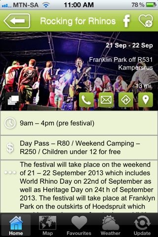 """Rocking for Rhino's is a hAPPy event - a """"Festivals & Events"""" listing on the Hoedspruit Info App"""