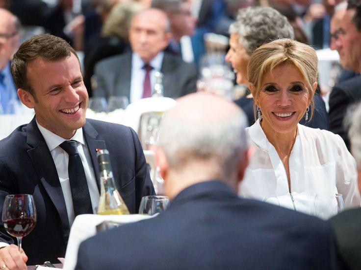PHOTOS. Le couple Macron élégant pour son premier dîner du Crif