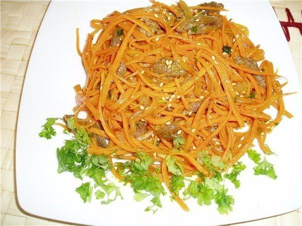 Ostrenkoe SALAD WITH CARROT AND MEAT