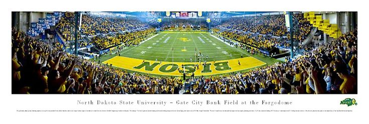 north dakota state football stadium | North Dakota State University Fargodome Panoramic College Football ...