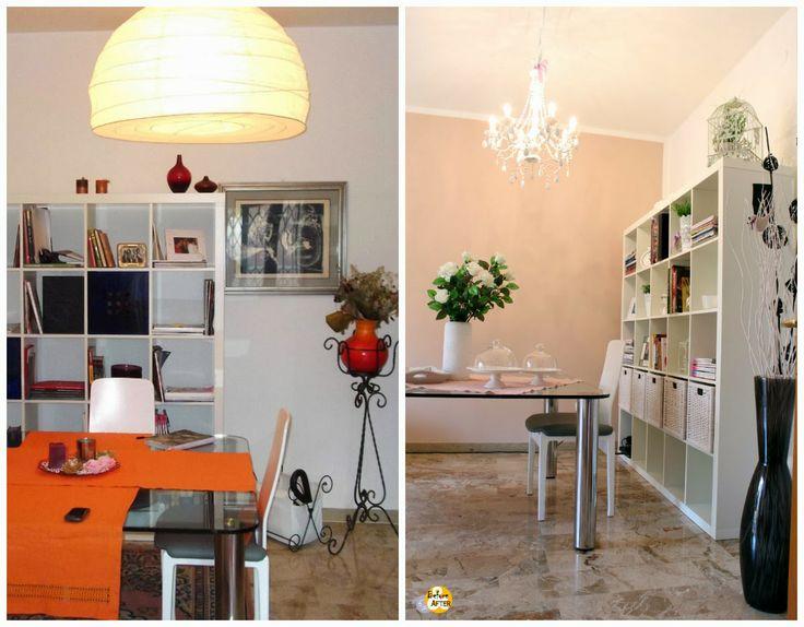 Before & After Padova: Il soggiorno shabby chic molto romantico ...