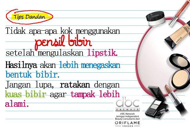 Tips menggunakan pensil bibir
