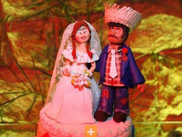 Tradicional casamento caipira.