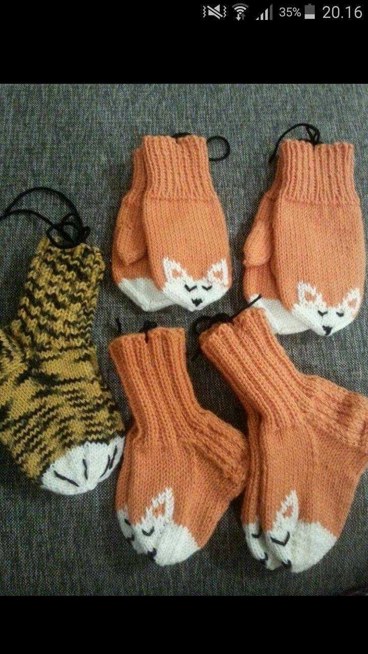 Kettusukat lapsen neulotut villasukat normi sukka valkoinen kärki kirjotut silmukoidut korvat