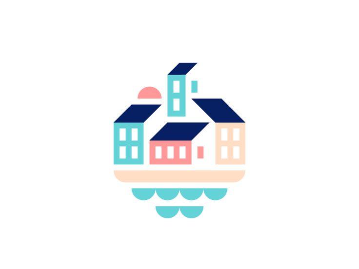 Beachfront Town by Alex Pasquarella #Design Popular #Dribbble #shots