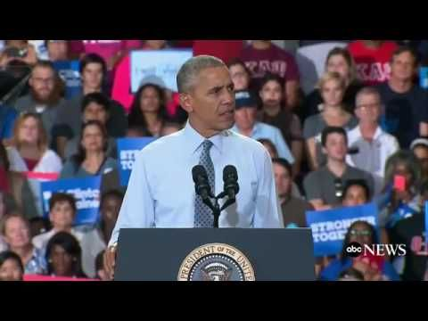 President Obama Speech Today 11 01 16 Destroys TrumpCampaigns for Hillar...