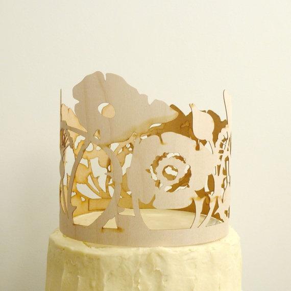 Garden Rose Cake Decoration by ByMadelineTrait on EtsyWood Wedding Cake, Wedding Cake Toppers, Laser Cut Wood, Cupcakes Toppers, Cake Decorations, Wedding Cakes, Gardens Rose, Rose Cake, Flower Cake