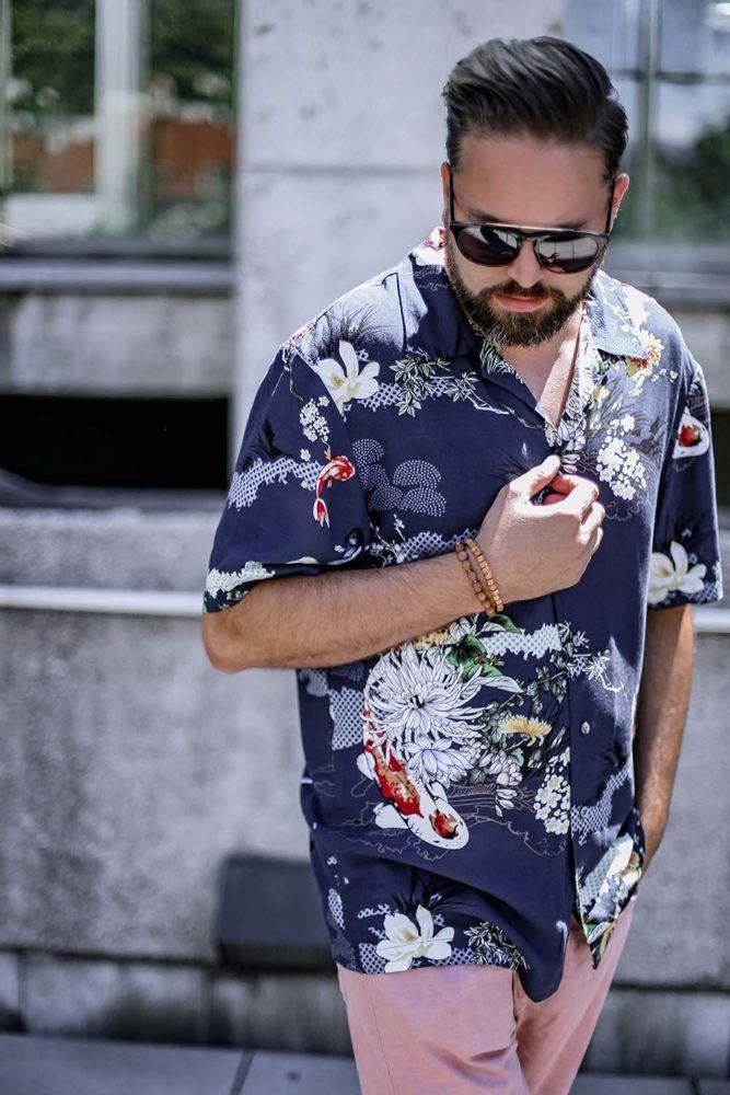 beatsanddogs, mode, blog, menfashion, music, musik, trend, fashion, sommerlook, hawaiihemd, palmen, print, rosa, jeans