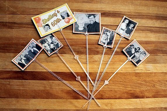"For Party Centerpieces---Perfect For An ""Aging"" Person's Birthday Party...I Think I Am Going To Use This Idea For My Husband's Surprise 60th Party!!"