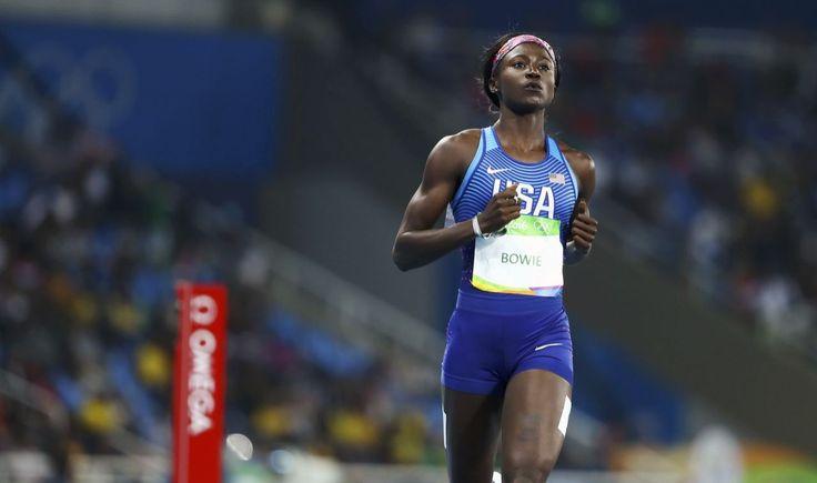 Tori Bowie wins silver in women's 100 behind new Jamaican sprint queen