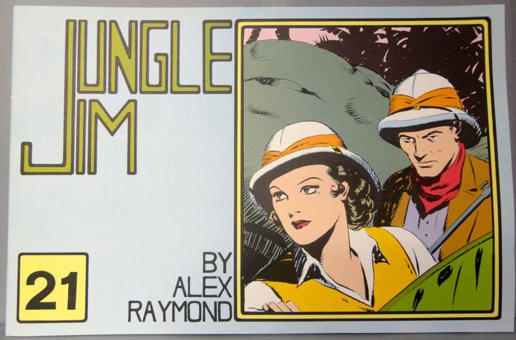 JUNGLE JIM #21 Sunday Pages June 11, 1939 to Aug. 27, 1939 Alex Raymond LARGE Action Hero Newspaper Comic Strip Reprint
