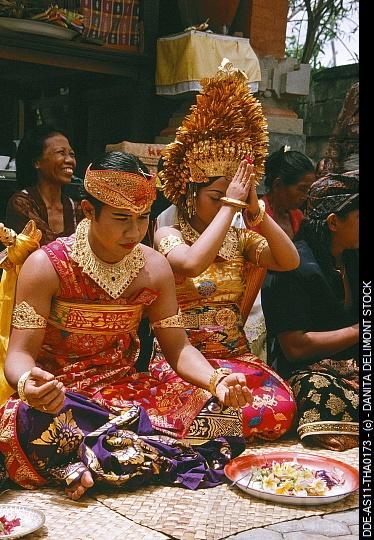 Indonesia, Bali. Balinese wedding ceremony