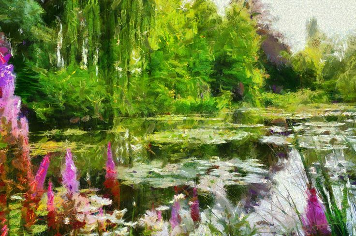 Claude Monet, Giverny, photo to painting using Dynamic Auto Painter