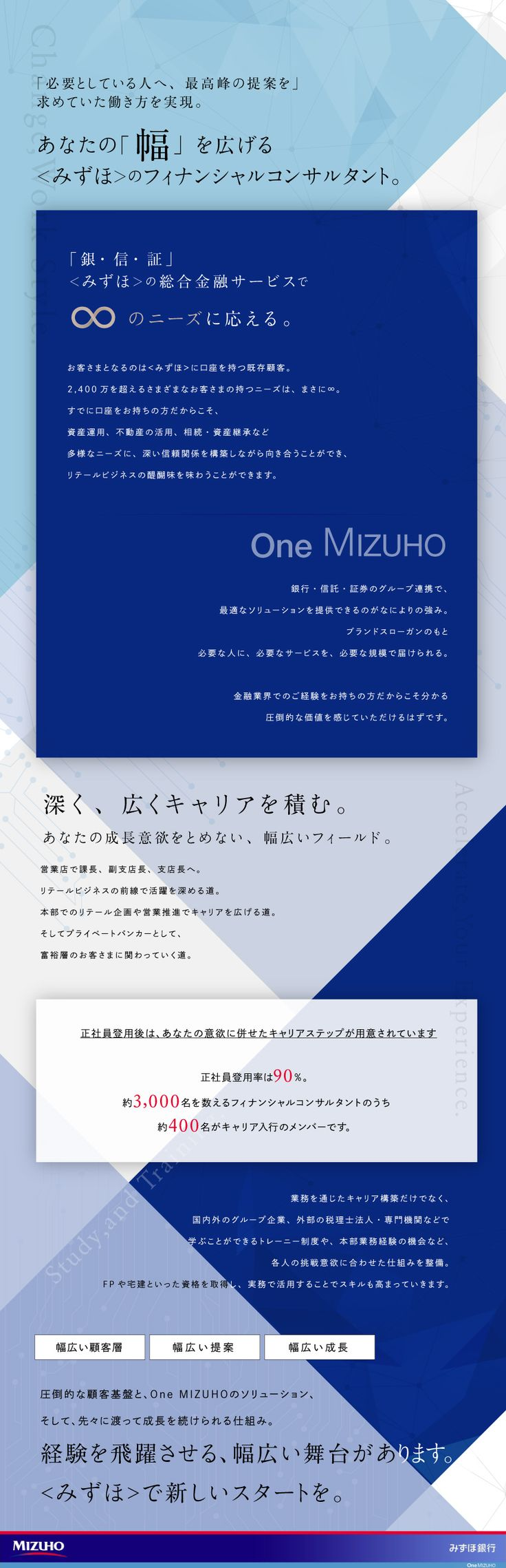 株式会社みずほ銀行 (Mizuho Bank, Ltd.)/フィナンシャルコンサルタント(個人営業)/【10月23日(日)】キャリア採用セミナー開催の求人PR - 転職ならDODA(デューダ)