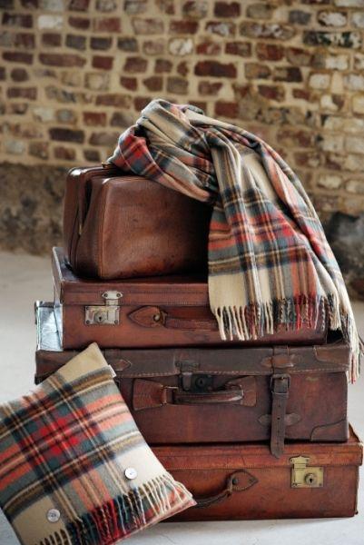 When we travel, we always bring our Dress Stewart tartans with us.................