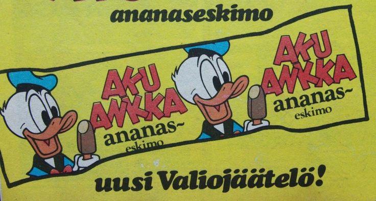 Aku Ankka ananaseskimo vm. 1974