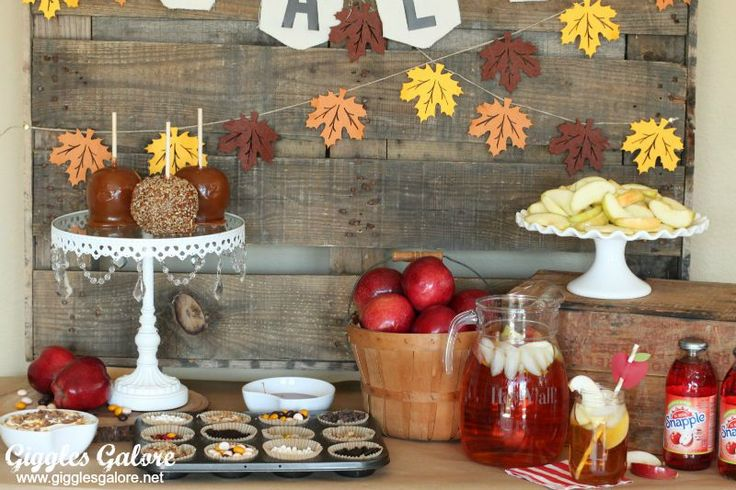 Celebrate Fall with an interactive dessert station and Candy Apple Bar. Loaded with toppings and customized the young and old alike with love this party!