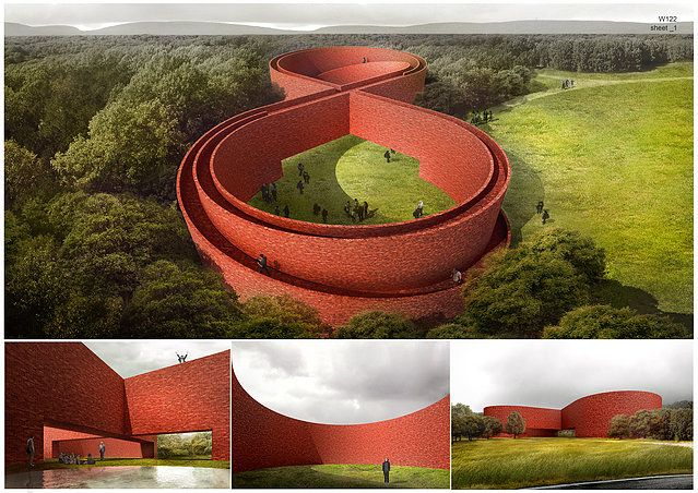 AMD Architects | THE WALL  #brickarchitecture #architecturalcompetition