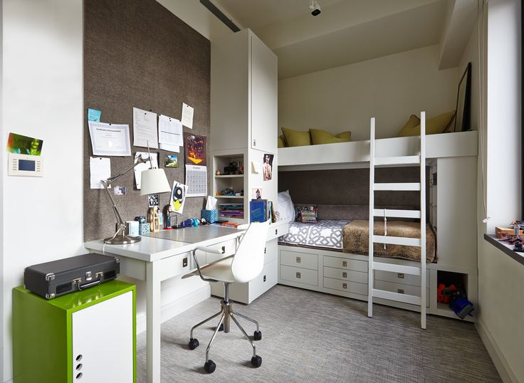 Мебель для школьника: рекомендации по выбору и 75+ вдохновляющих идей для обустройства детской комнаты http://happymodern.ru/mebel-dlya-shkolnika-foto/ Уютная комната подростков в современном стиле