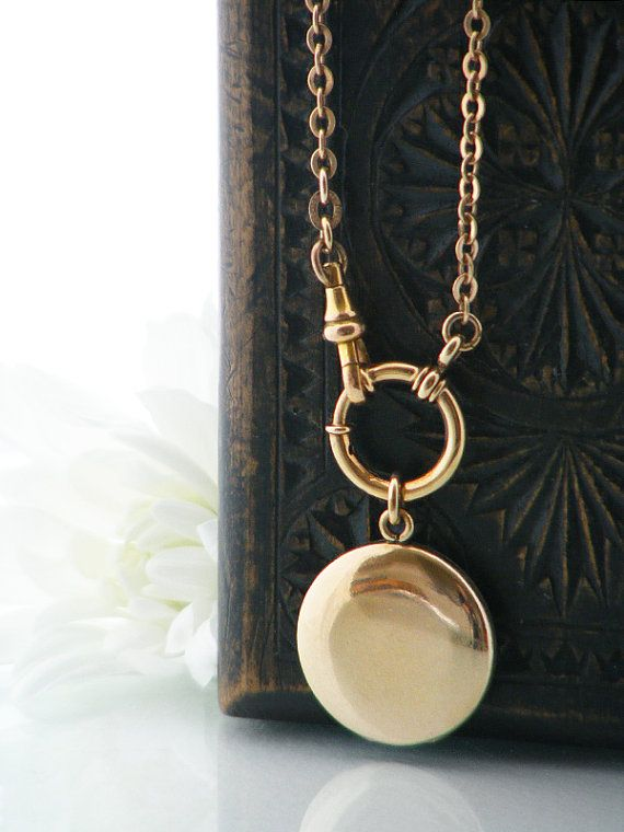 amazon round polished yellow com dp lockets necklace locket gold filled