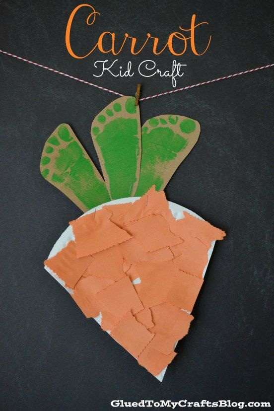 Super Easy Paper Plate Carrot Easter Kid Craft Work Ideas