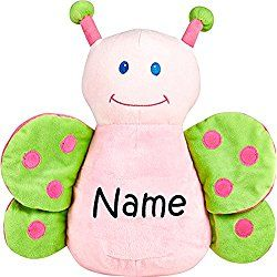 Personalized Stuffed Butterfly with Embroidered Name