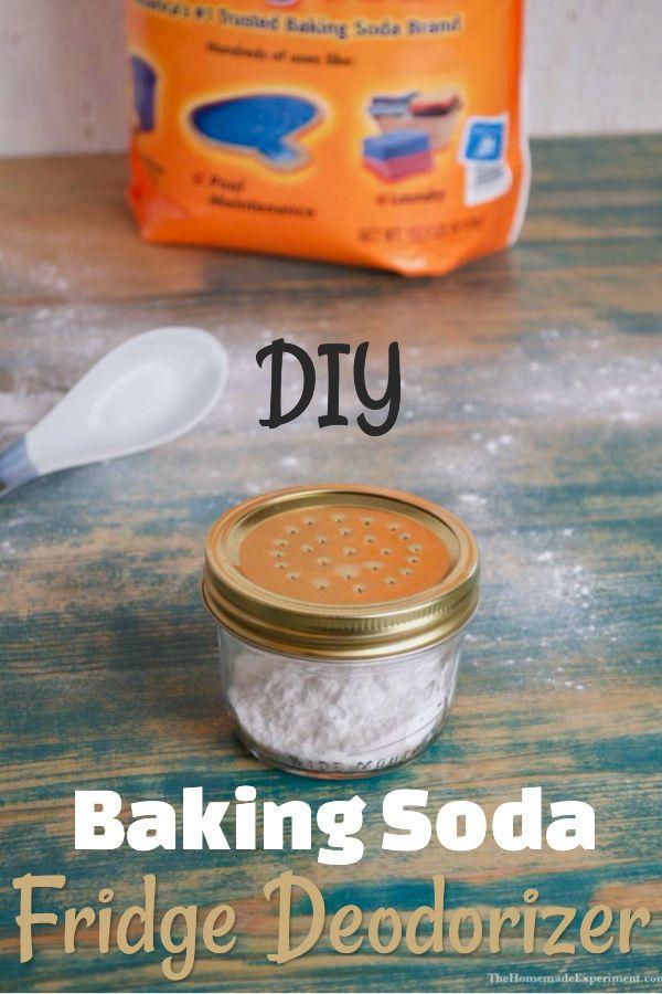 Homemade Baking Soda Fridge Air Freshener And Deodorizer Baking