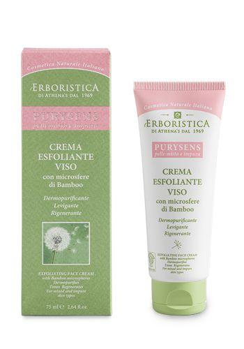 Crema esfoliante viso con microsfere di bamboo | Athena's