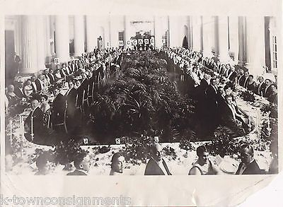 VICE PRESIDENT CHARLES CURTIS DIPLOMATS STATE DINNER ANTIQUE PRESS PHOTO 1929