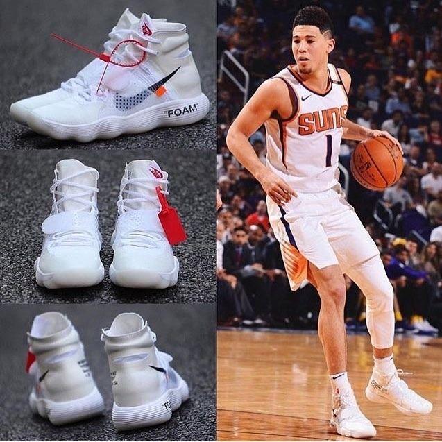 White nikes, Devin booker shoes, Nike