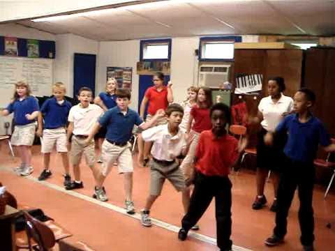▶ Jump in the Line dance 4th grade Brunson Elementary School Erin Armstrong - YouTube