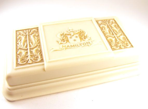 Celluloid Jewelry Box Embossed Lyre Design Hamilton by hipcricket
