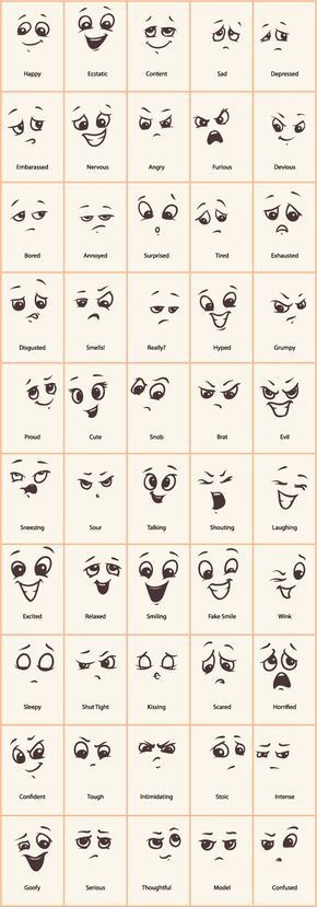 Hand drawn funny expressions vector icons More