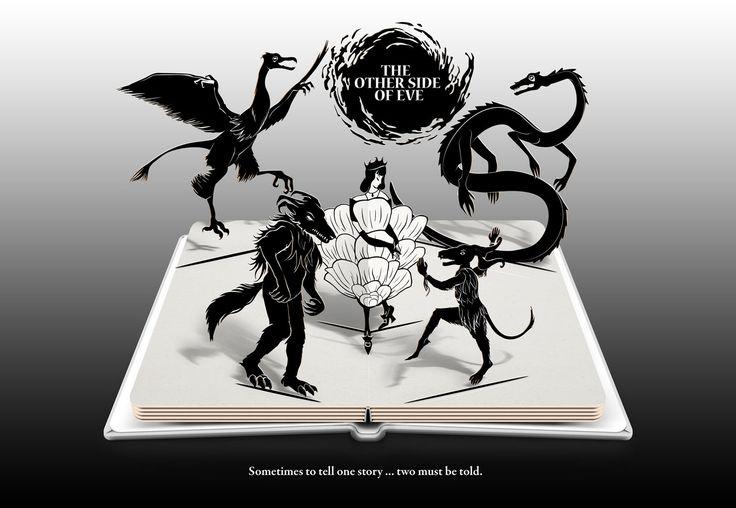 The Other Side of Eve - Pop-Up Display Ad #mockup #novel #books #YAfantasy #bookart #popup #illustration #princess #creatures