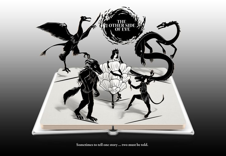 The Other Side of Eve - Pop-Up Display Ad #mockup #novel #books #YAfantasy #bookart #popup #illustration #princess #creatures