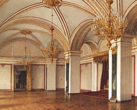 Moskau, St. Katharinen-Saal / Ukhtomsky von Künstler Konstantin Andrejewitsch Ukhtomsky als gerahmtes Bild