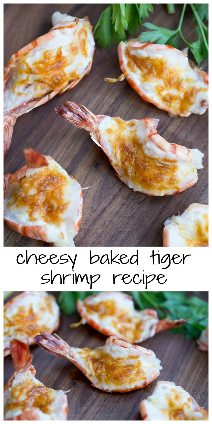 Cheesy Baked Tiger Shrimp Recipe
