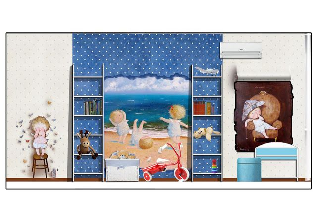 Design a child's room for a little boy. Interpretation paintings Evgenia Gapchinskaya.