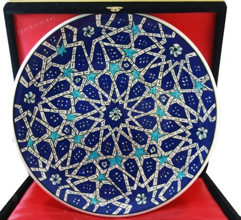 Selçuklu Yıldızı Desenli 30cm İznik Çini Tabak