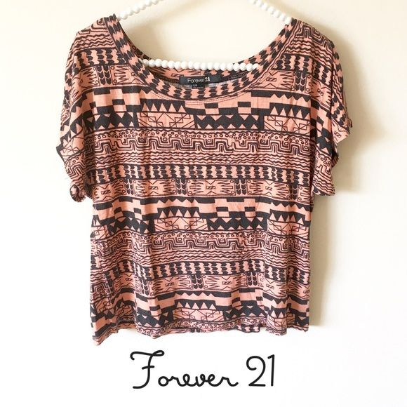 """Forever 21 Festival Aztec Crop Top Gently used condition  Size Small  97% Rayon, 3% Spandex  Length: 20"""" Chest: 40-44"""" Forever 21 Tops Crop Tops"""
