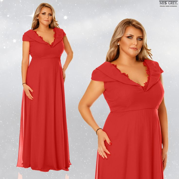 A long elegant dress can be voluptuous girl's best friend. Discover the discounted price for the Plus size red Lena dress in our online shop.