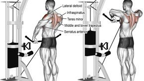 Cable wide grip upright row exercise