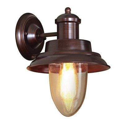 allen + roth Oil Rubbed Bronze Backplate Wall Sconce