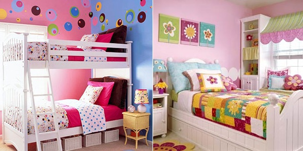 Bright U0026 Bold   Vibrant Colors That Injects A Playful Touch By Better Homes  U0026 Gardens. Little Girl BedroomsGirls ...