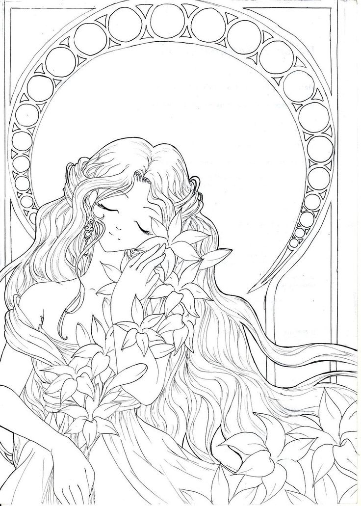 hallo everyone this time i submit only lineart but i think it worth i fall in love with her i don know when i would like to color it but probaly it