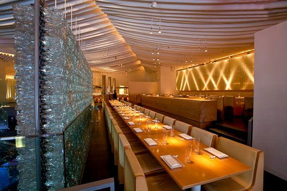 Go dining on a summer's night at the classy Morimoto Restaurant in Chelsea, Manhattan!