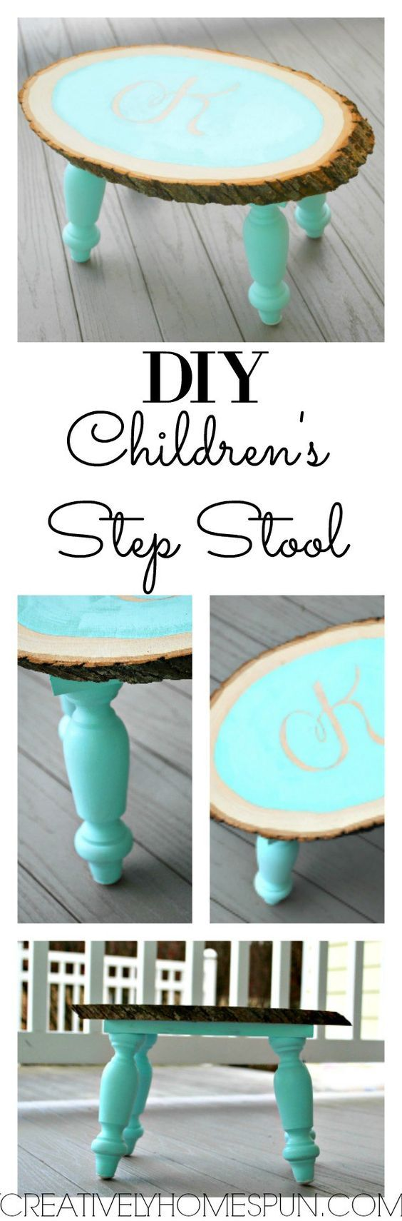 DIY Children's Step Stool #Createandsharechallenge #DIYdecor #walnuthollow The Ultimate Pinterest Party, Week 101